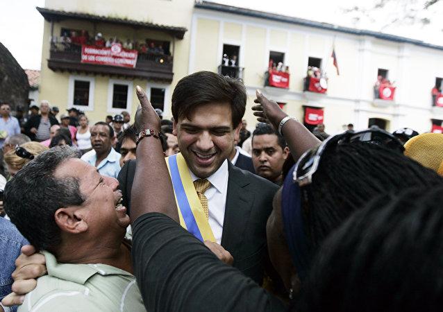 Carlos Ocariz, exalcalde opositor del municipio Sucre, Venezuela (archivo)