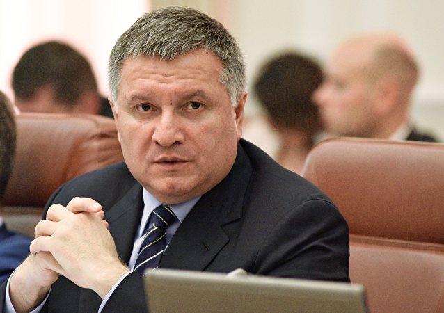 Arsén Avákov en la sesión del Gabinete de Ministros en Kiev