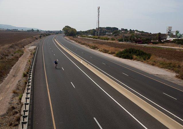 Una carretera vacía por las celebraciones del Yom Kippur