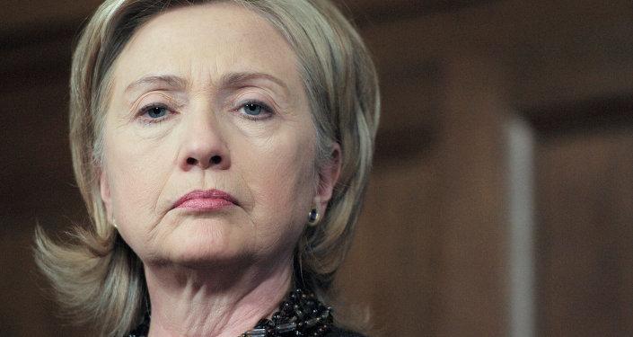Candidata a la presidencia de EEUU por el partido demócrata Hillary Clinton