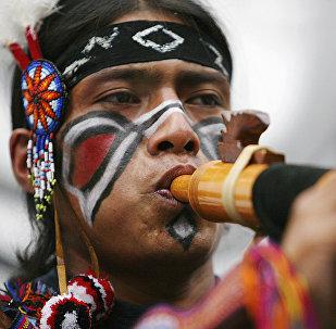 Un indígena de Perú (archivo)