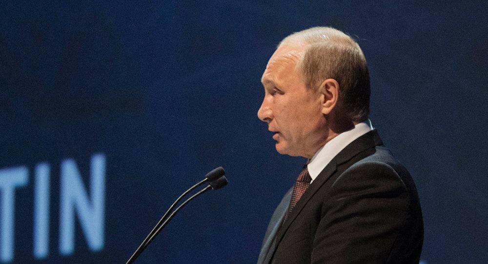 Presidente de Rusia Vladímir Putin durante su visita a Turquía