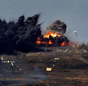 Bombardeos realizados por cazas Su-24 rusos