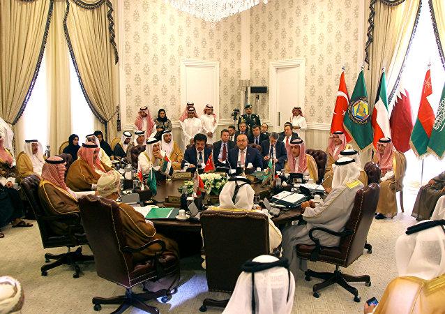 La reunión de los ministros de Exteriores turco y de los países del Golfo Pérsico en la capital saudí de Riad