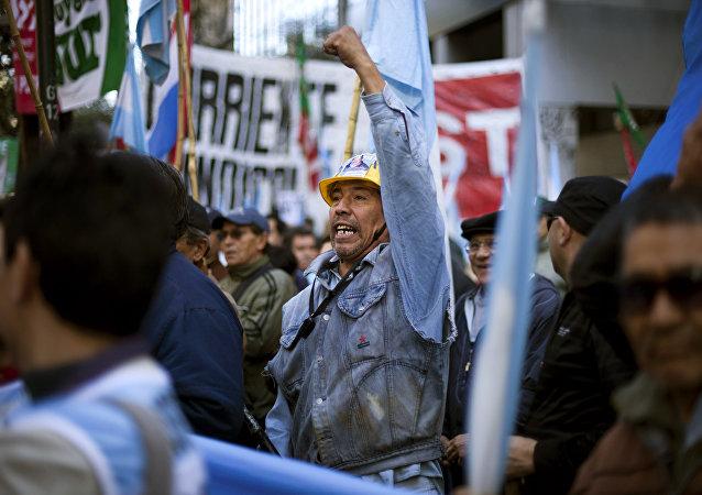 Una protesta organizada por la Central de Trabajadores de Argentina (archivo)