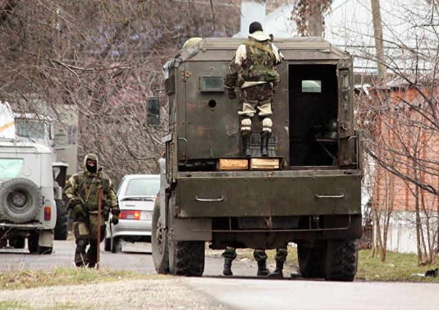 Las fuerzas de seguridad en Nálchik, Kabardia-Balkaria