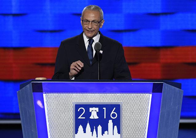 John Podesta, jefe de la campaña electoral de Hillary Clinton