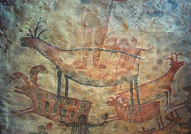 Pintura rupestre (imagen referncial)
