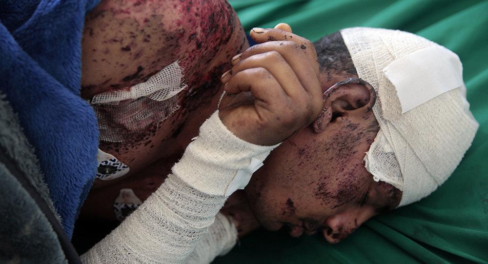 La víctima del ataque en Yemen descansa en el hospital