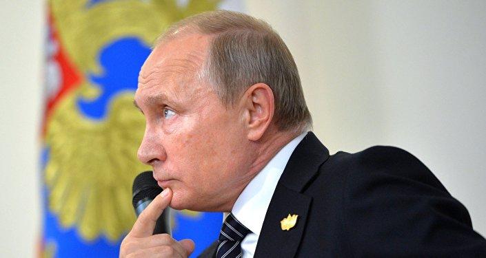 Vladímir Putin durante la VIII cumbre de los BRICS