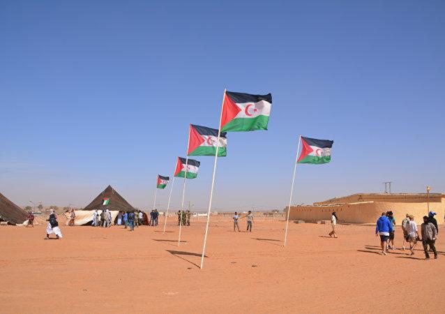 Campamento de refugiados en Dajla, Sáhara Occidental