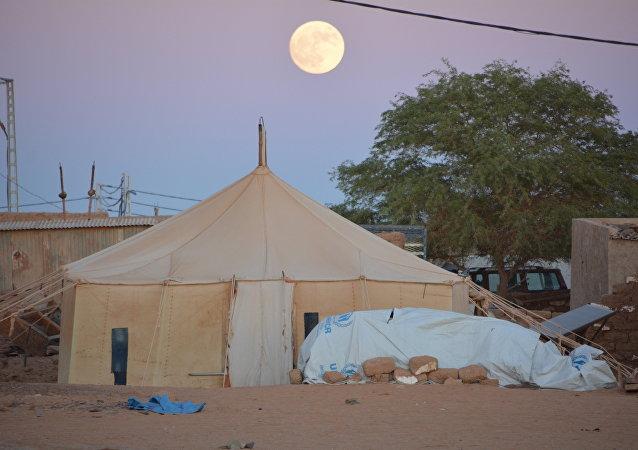 Un campo de refugiados en el Sáhara
