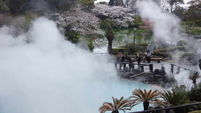 Fuente termal de Beppu, Japón