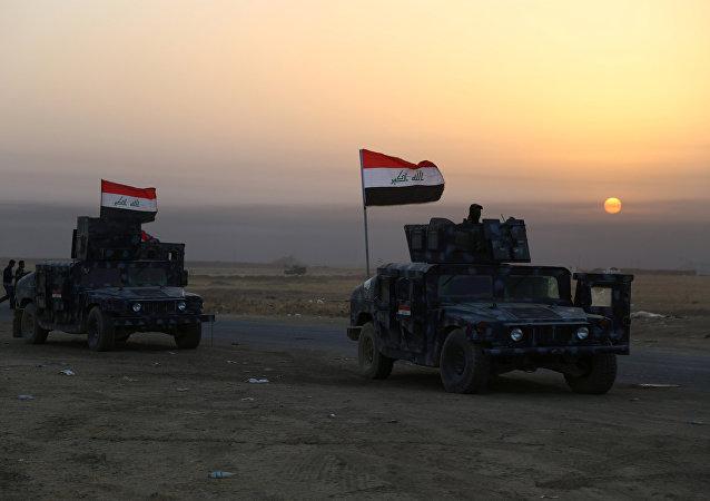 Las fuerzas de seguridad de Irak cerca de Mosul