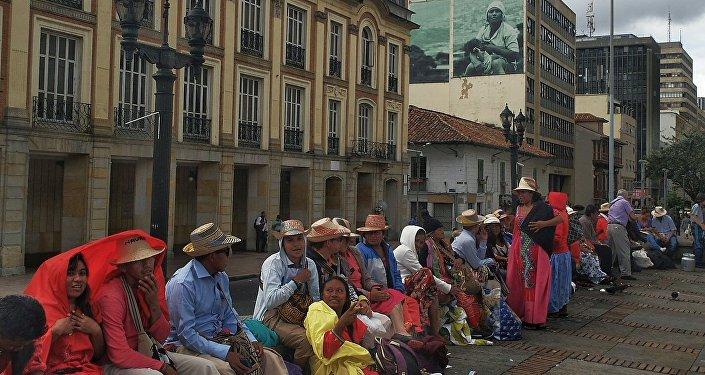 Comunidad indígena de Wayuú en Colombia