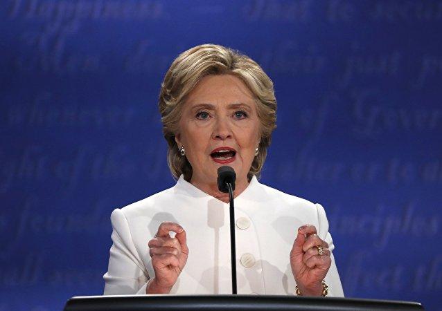 La candidata demócrata, Hillary Clinton, durante los debates presidenciales en EEUU