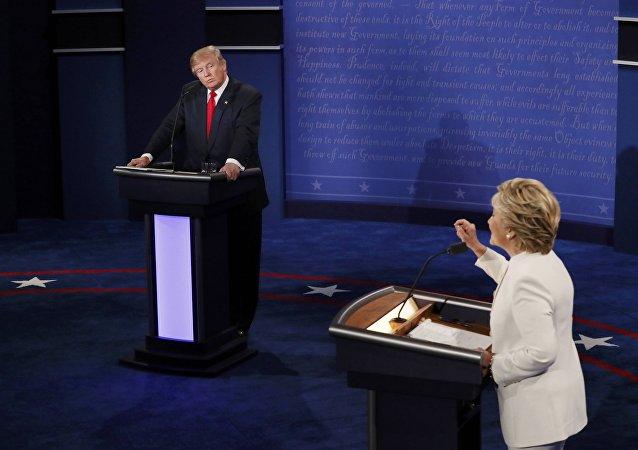 Donald Trump y Hillary Clinton durante los debates