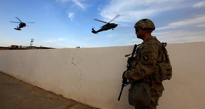 Un militar estadounidense en Irak