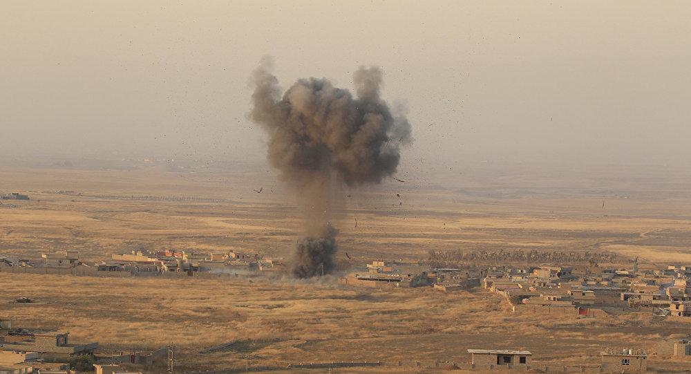 El ataque de las posiciones de Daesh (archivo)