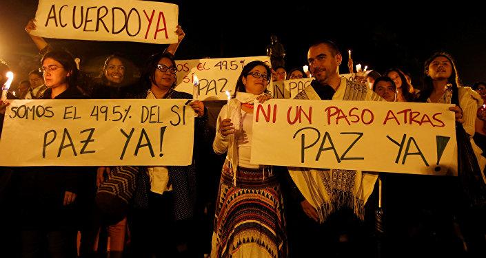 Movilización por la paz en Colombia