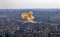 Los combates en Alepo, Siria (archivo)