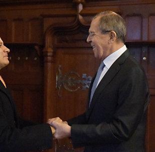 Los ministros de Exteriores de Rusia y de Guatemala, Serguéi Lavrov y Carlos Morales