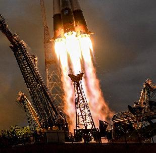 El lanzamiento del cohete Soyuz