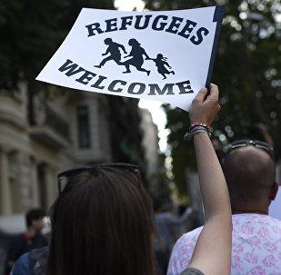 Manifestación en solidaridad con los refugiados (archivo)