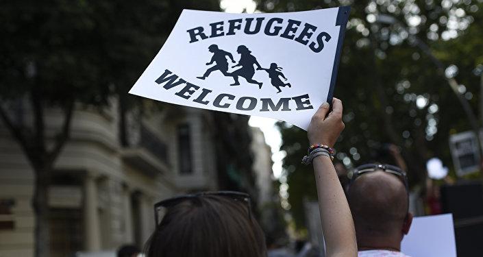 Manifestación en solidaridad con los refugiados en España