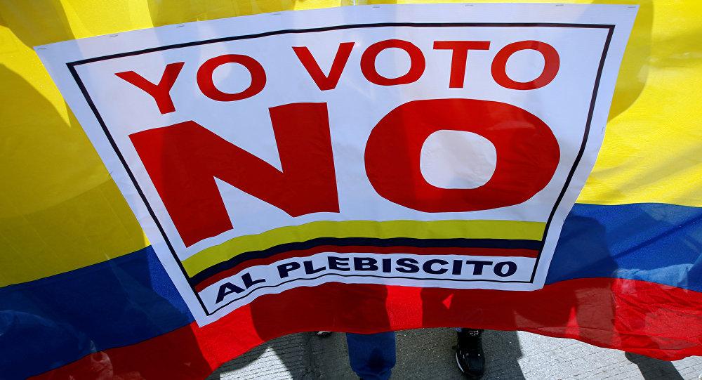 Los manifestantes que votaron 'no' al acuerdo con las FARC en el plebiscito de 2016 en Colombia