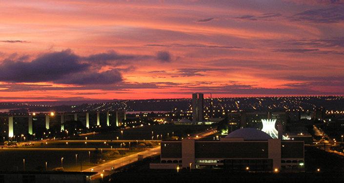 La ciudad de Brasilia, capital de Brasil