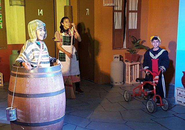 La réplica de la vecindad  del Chavo del Ocho en Argentina