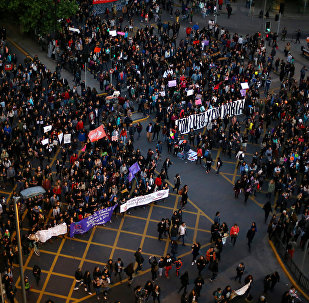Una protesta en Chile (archivo)