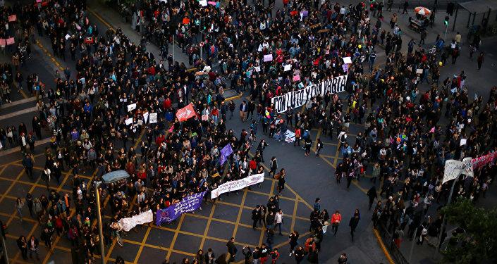 Una protesta en Chile (archivo)