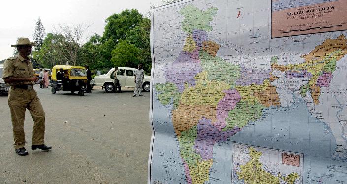 El mapa de la India