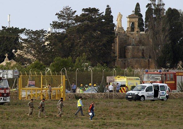 Lugar del siniestro del avión de Frontex en Malta