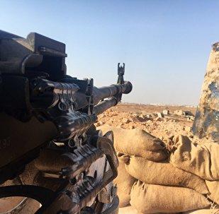 Una posición del Ejército sirio