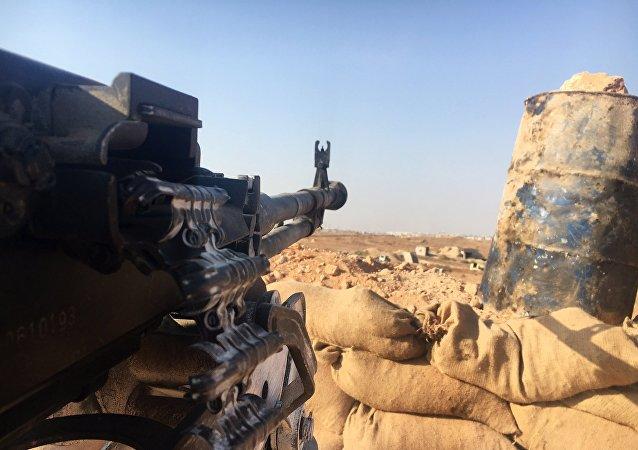 Una posición del Ejército sirio en el sur de Alepo