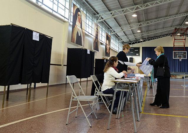 Michelle Bachelet, presidenta de Chile, en las elecciones (archivo)