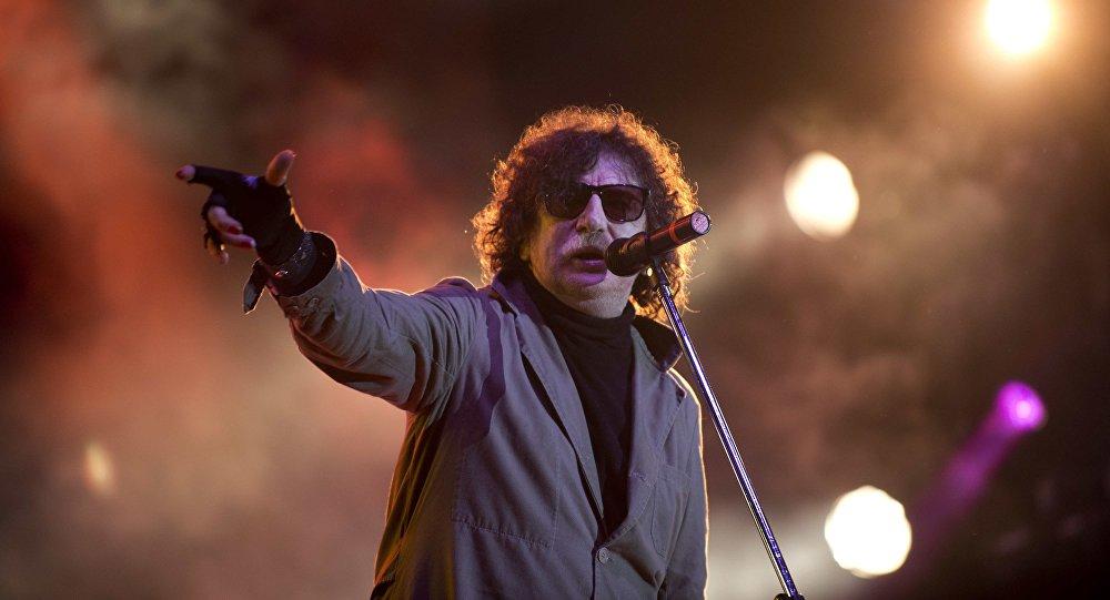 Charly García, en Montevideo el 19 de octubre de 2012