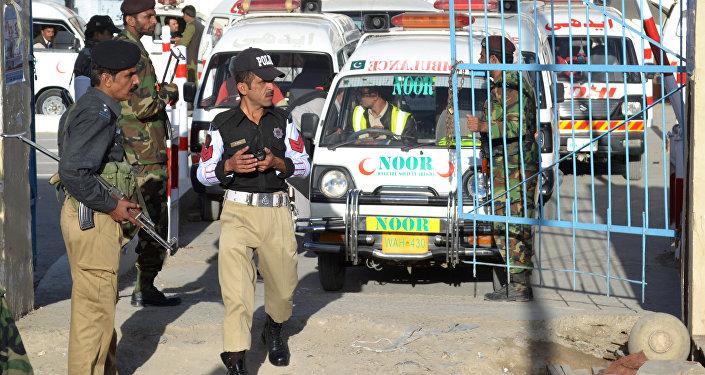 Ambulancias en Pakistán (archivo)