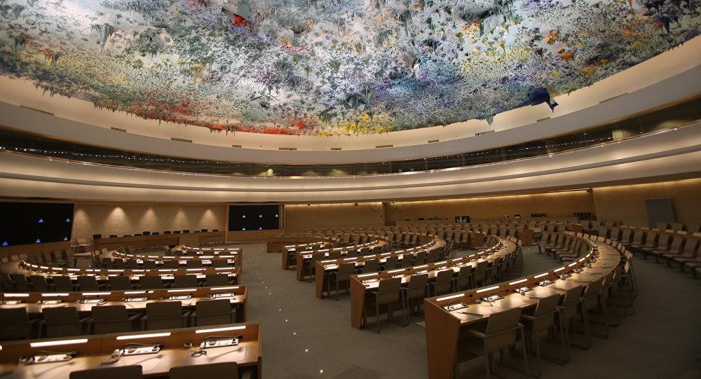 La sala del Consejo de Derechos Humanos de la ONU (archivo)