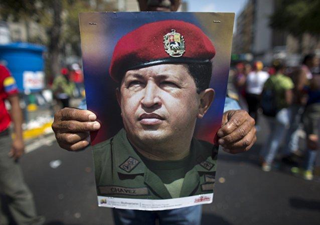 El retrato de Hugo Chavez (archivo)