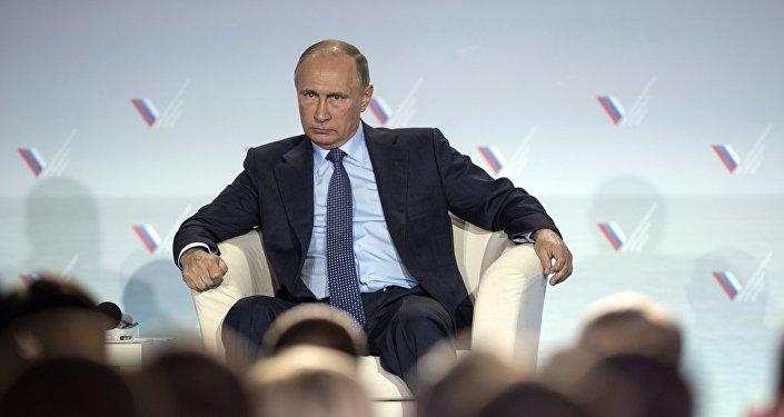 Vladímir Putin, presidente de Rusia, en una visita a Crimea