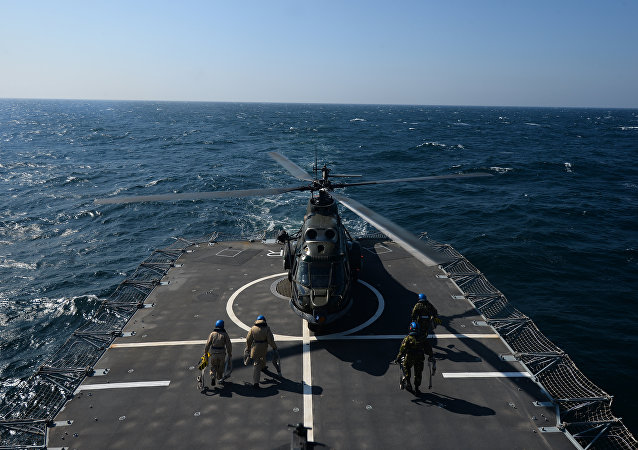 Buque de la OTAN en el mar Negro