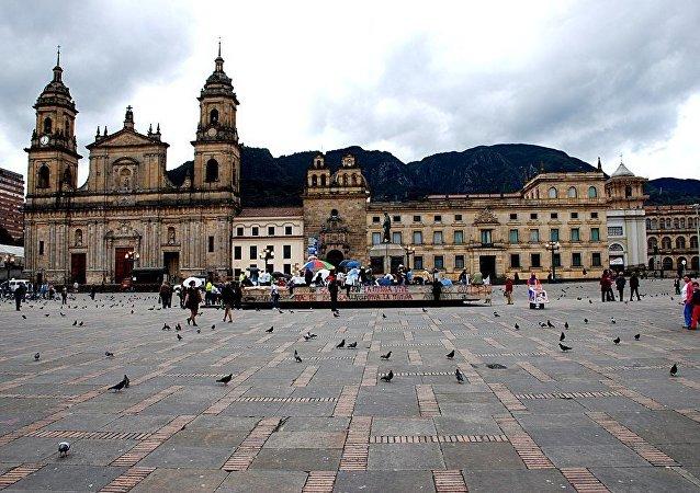 Plaza de Bolívar en Bogotá, capital de Colombia