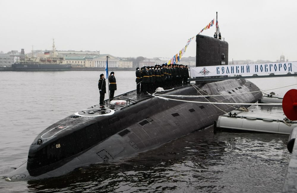 Ceremonia de entrega del submarino diésel-eléctrico 'Veliki Nóvgorod'