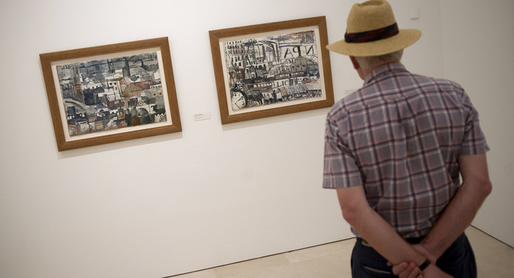 Pinturas de Joaquín Torres García en el Museo Picasso Málaga, en España