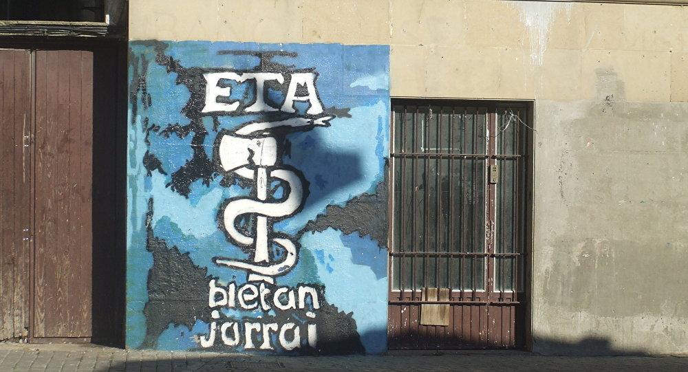 Siglas de ETA en Alsasua, Navarra (archivo)