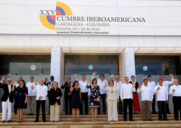 Los delegados de la XXV Cumbre Iberoamericana de Jefes de Estado y de Gobierno (archivo)